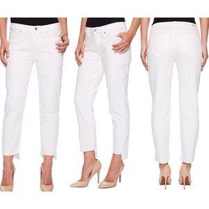 NWT Liverpool Jayden Crop straight white jeans